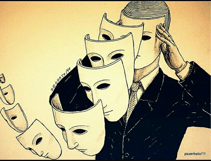 картинка про лживых людей двуличных цирк реннер, несомненно