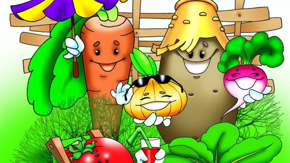Смешные картинки про огород с детьми