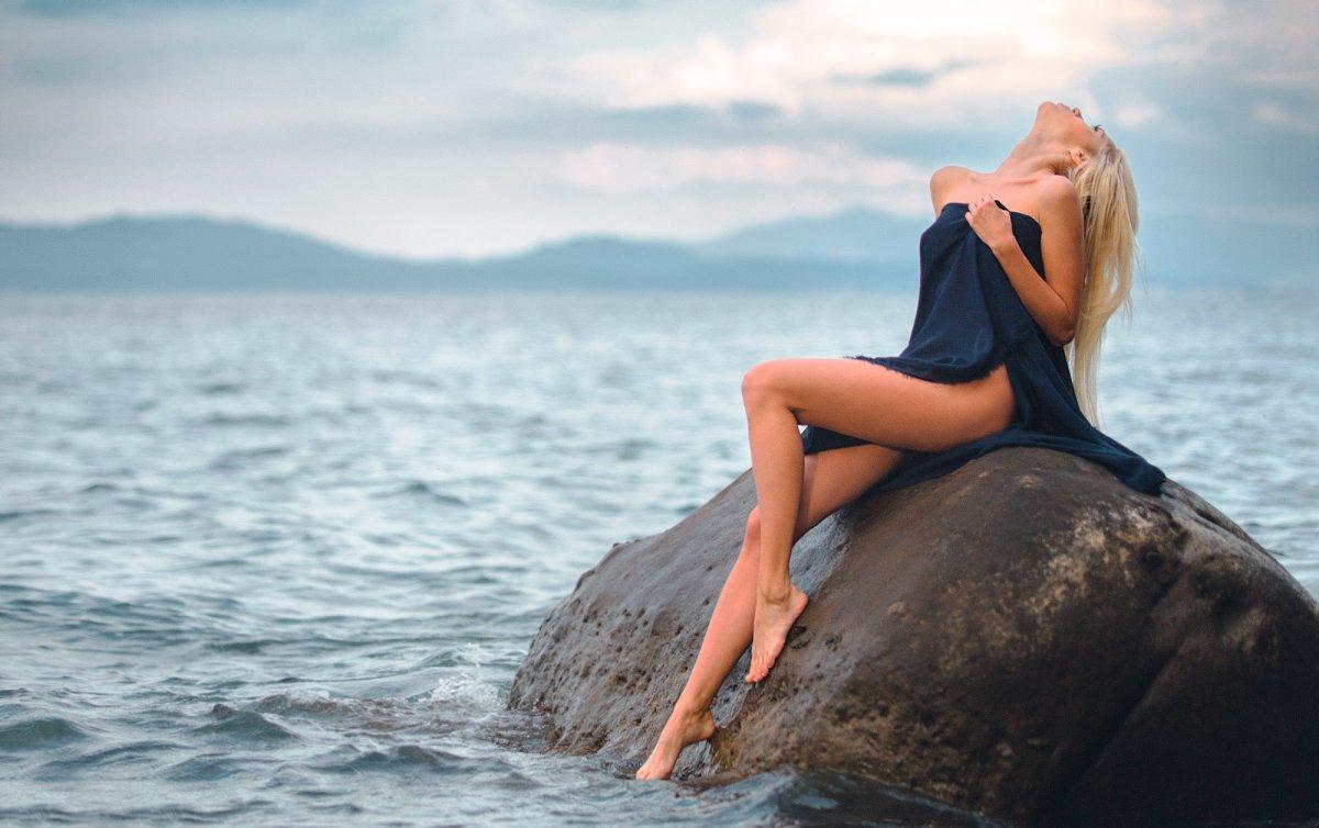 фото реальных блондинок на море сидеть тебя
