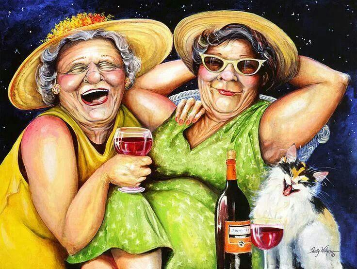 Картинка про подруг в старости