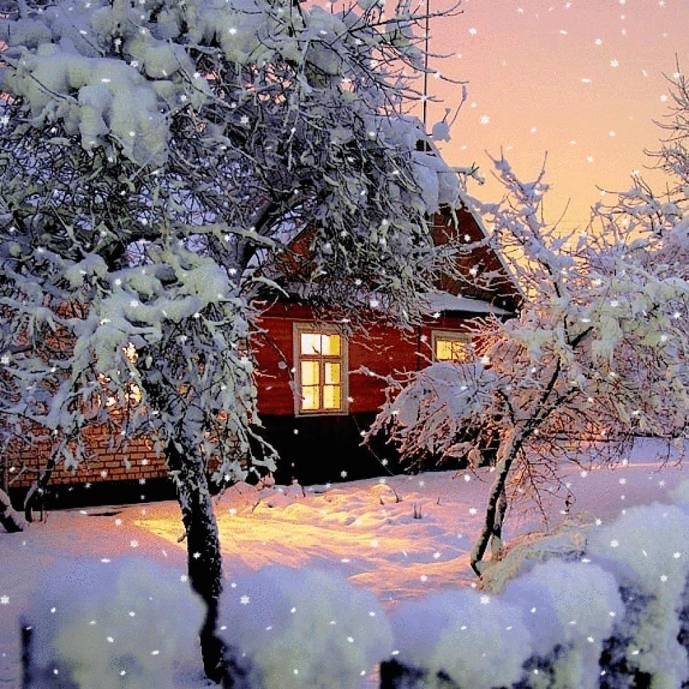 Картинки а снег идет гиф, картинки