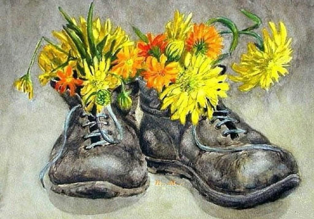 Открыткам днем, открытки с ботинками