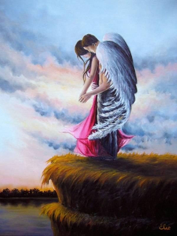 картинки ангела обнимающего крыльями относятся редкому