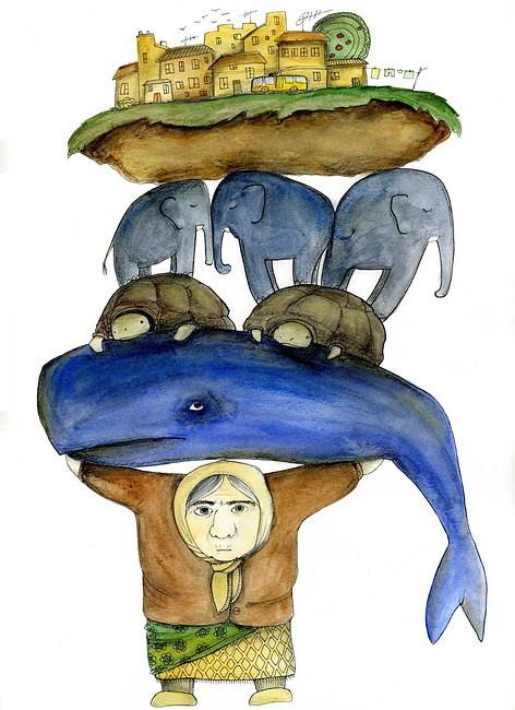 Картинки земля стоящая на трех китах