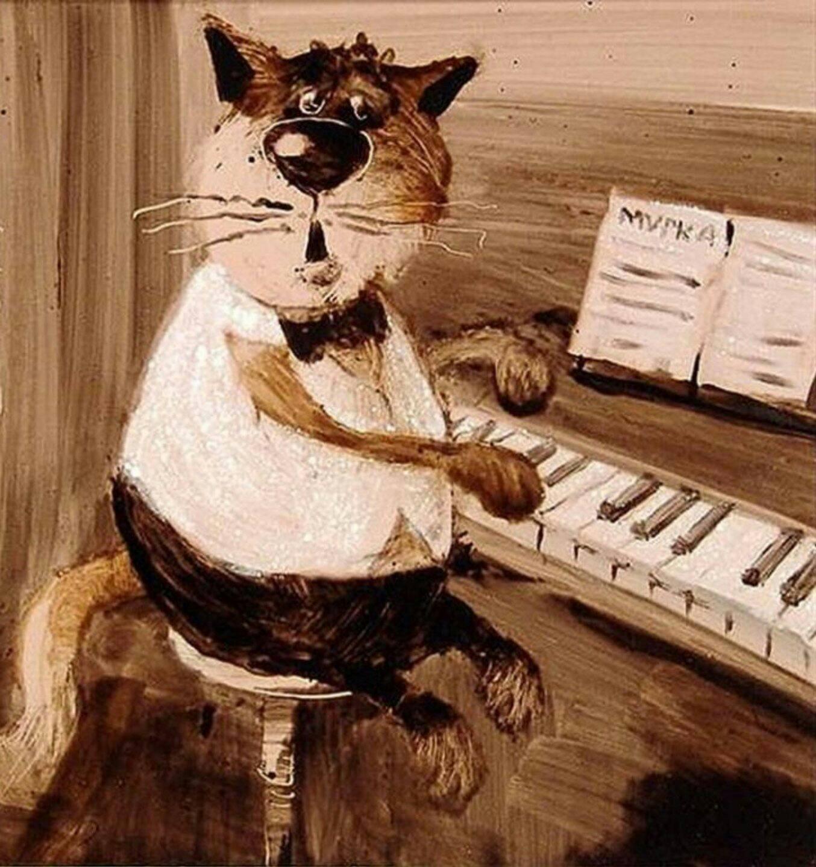 Новым, картинки коты рисованные работают на котельной на трубе сидят