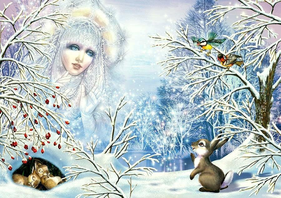 картина матушка зима них
