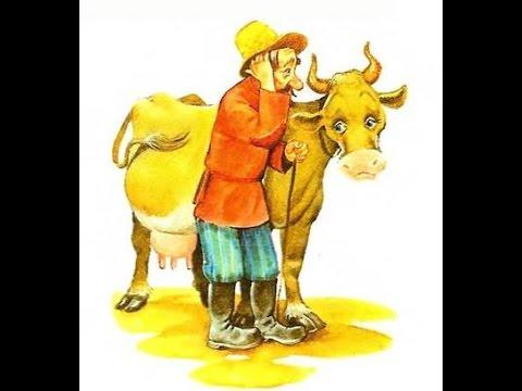 Картинка про деда и корову
