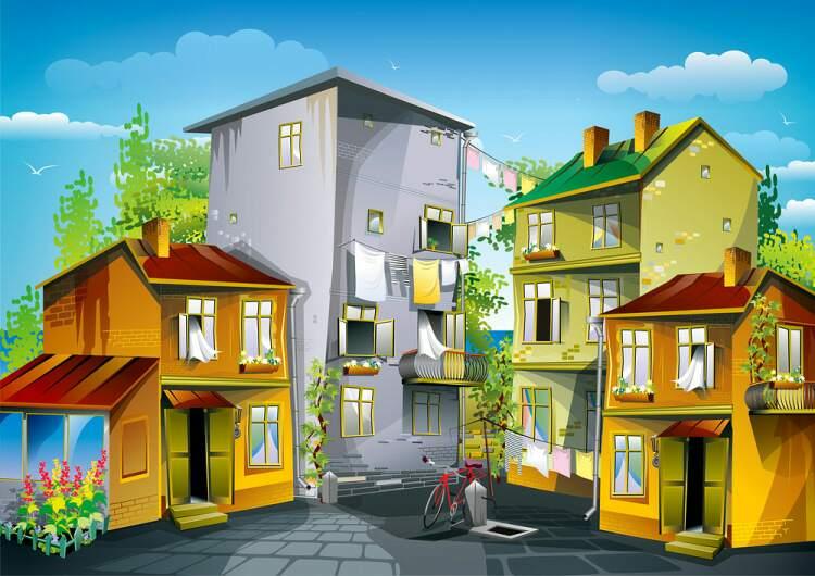 картинка домик с улицами так получилось