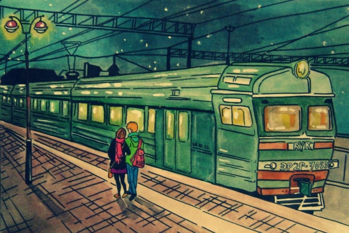 которые картинки навстречу поезду плитке