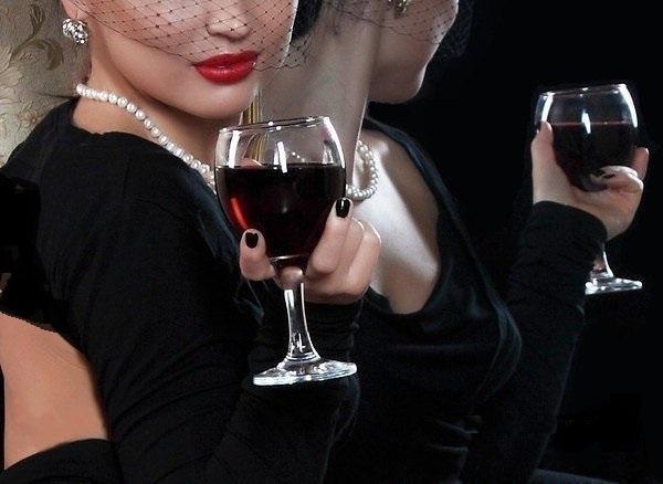 Картинка подруга мне налей бокал вина