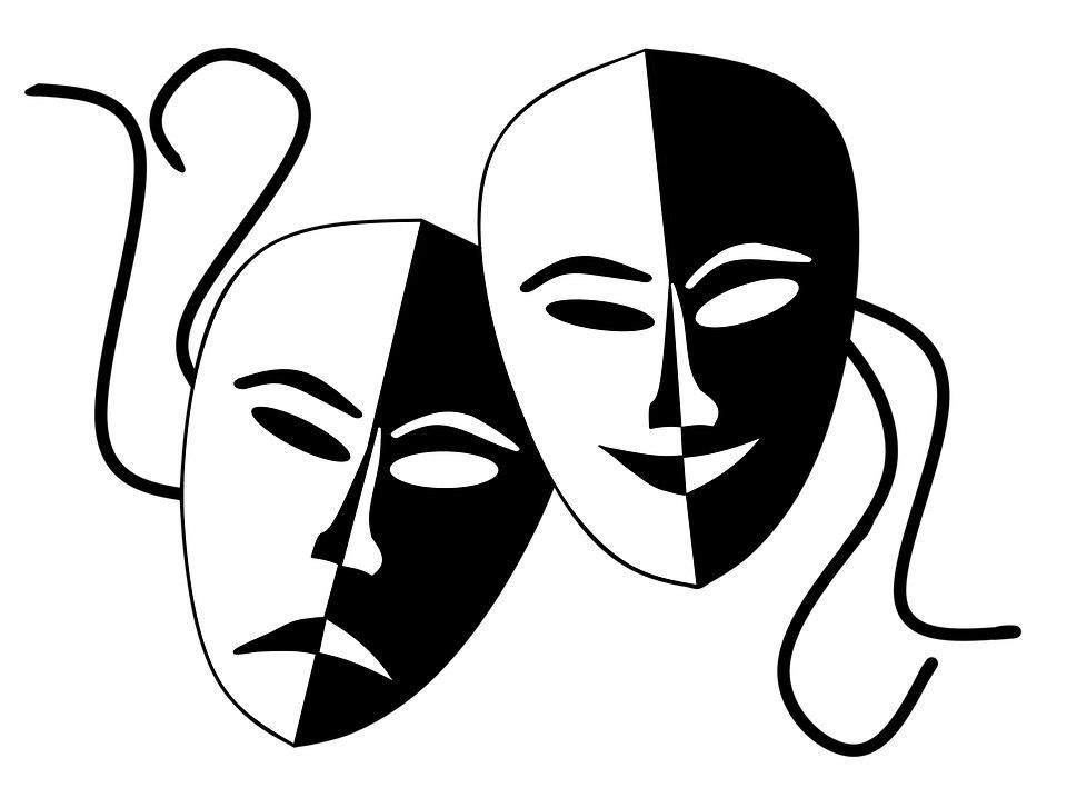 Театральная маска картинка для печати