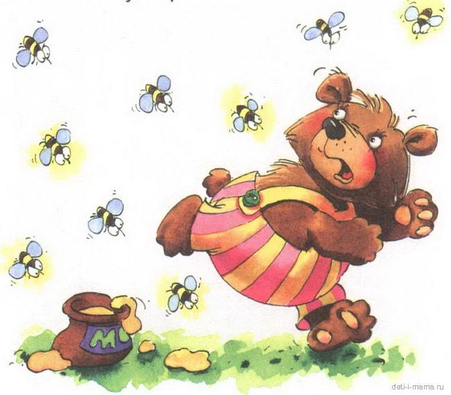 картинки мишка и пчелы сегодня