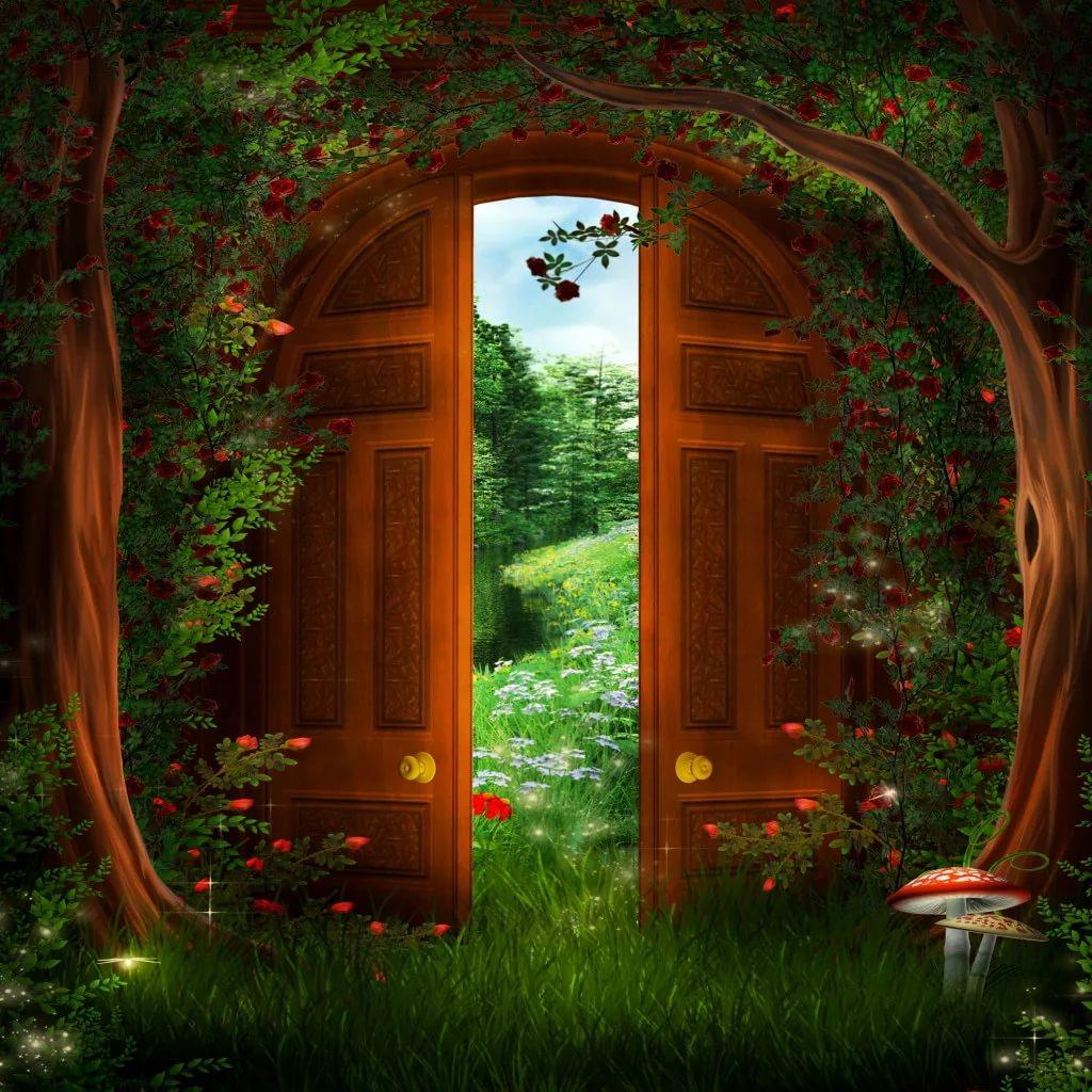 Анимашки открывающиеся двери картинки