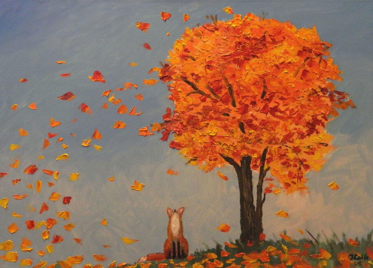 Картинки как нарисовать листопад