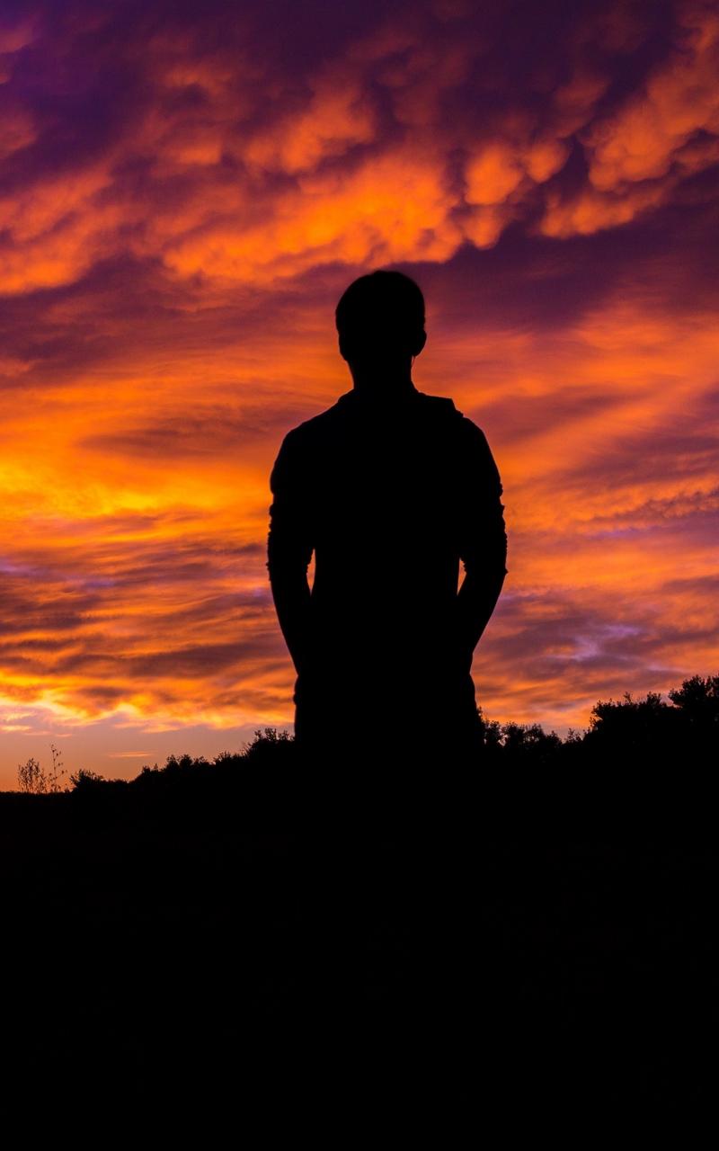 картинки закатов тени человека росла, постоянно