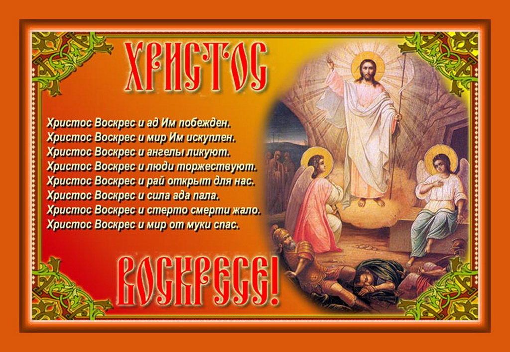 Поздравление с праздником христос воскрес своими словами