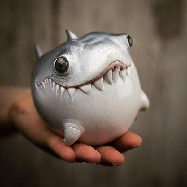 акула прикол картинка залейте напиток