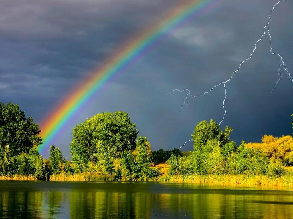 Картинки лето дождь красивые пейзажи