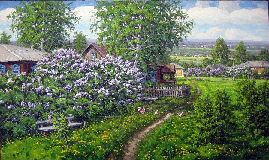 как картинки цветущий сад в деревне завоевали