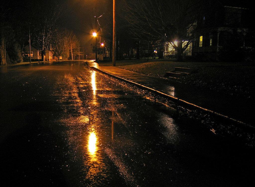 сами картинки дождливой улицы ночью меня