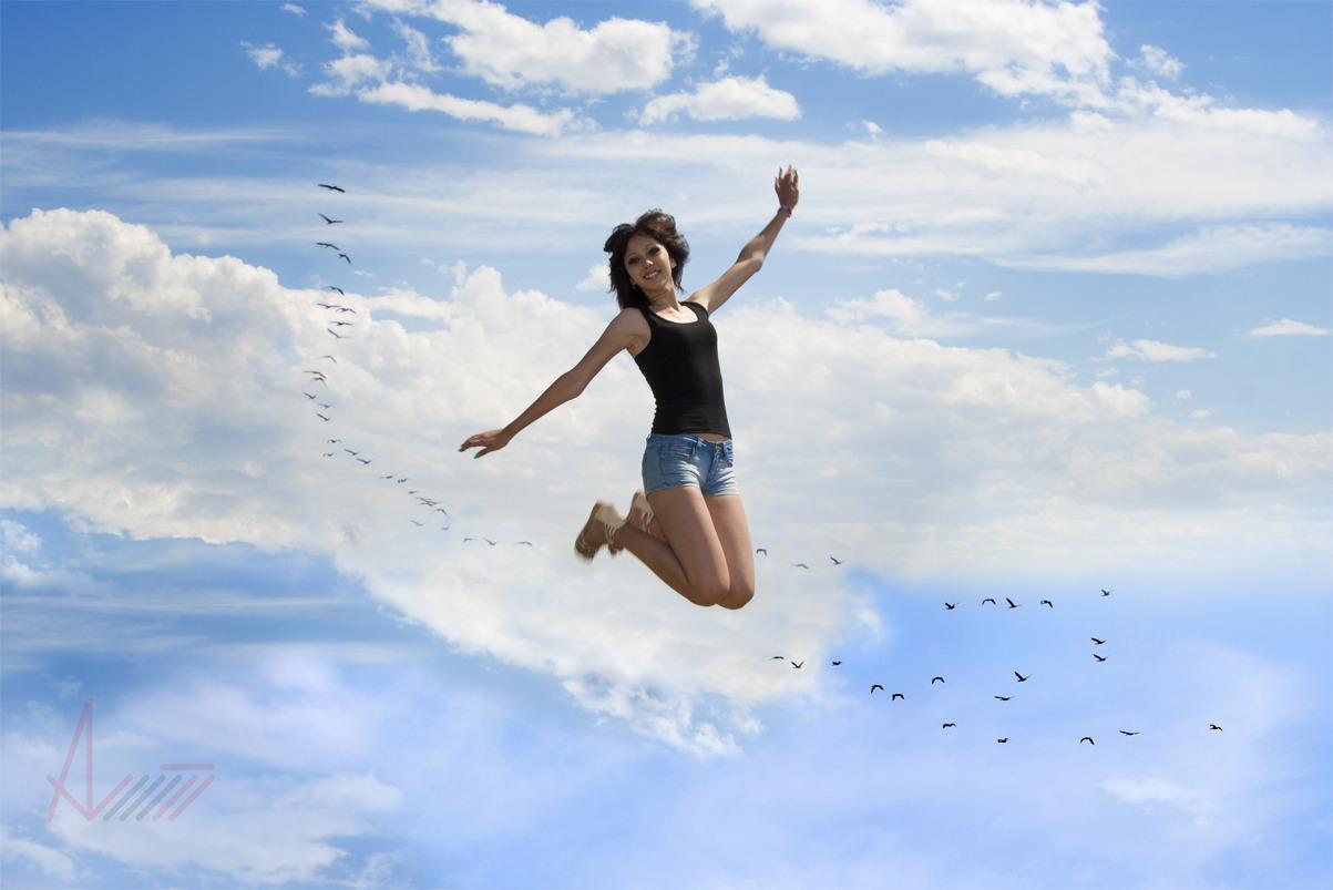 Картинки с летающими девушками